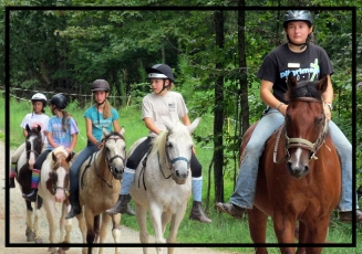 Hour-Long Trail Ride for 2 at Camp Chestnut Ridge