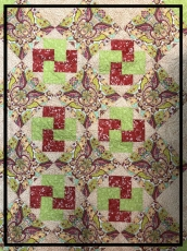 Infant Quilt, Sewn by Judy Dew.  Can you find the bunnies?