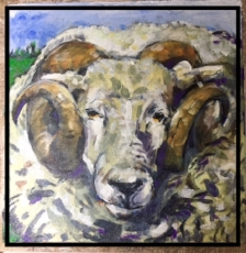 Oil Painting of Rameses, by Carlette Peters of Davenport Florist, Raleigh