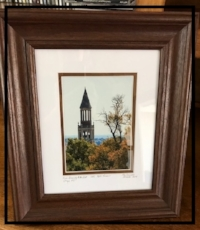 Framed Photograph of UNC Bell Tower, by Jan Sassaman
