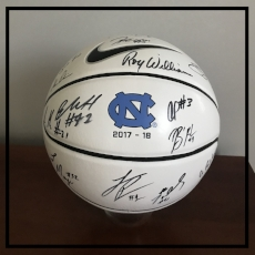 2017-18 UNC Men's Basketball Team Autographed Ball.
