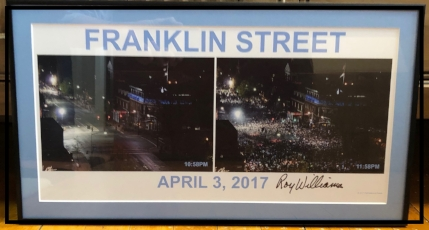 2017 Championship Franklin Street Before and After Photo, Signed by Roy Williams