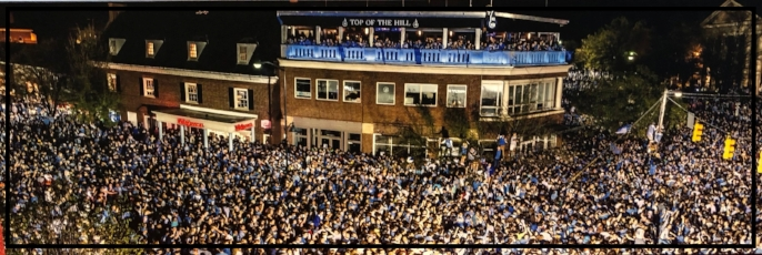 2017 Championship 12x36 Panoramic Canvas of Franklin Street