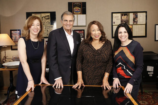 (l-r) Sandy Payne, Board Member IAWTV, The Caucus Co-chairs Robert Papazian and Tanya Hart and Tina Cesa Ward, Chairman, IAWTV , Photo Credit: Steve Cohn