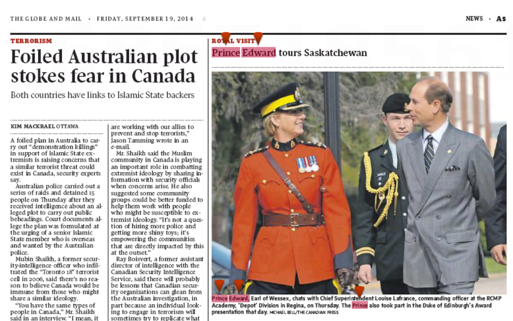 CANADIAN PRESS ASSIGNMENT SEPT. 19, 2014