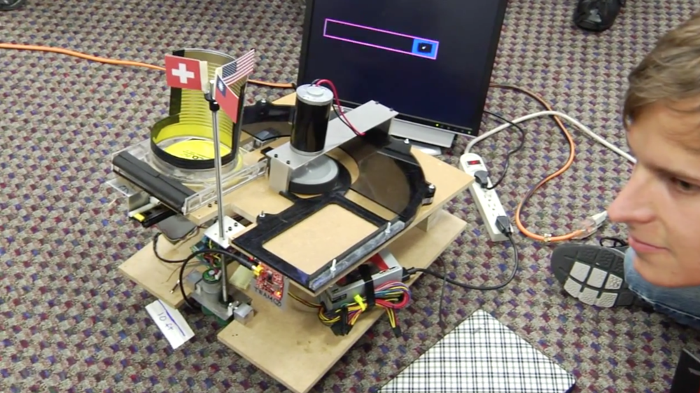 Frisbee Throwing Bot  by Jon Dolan