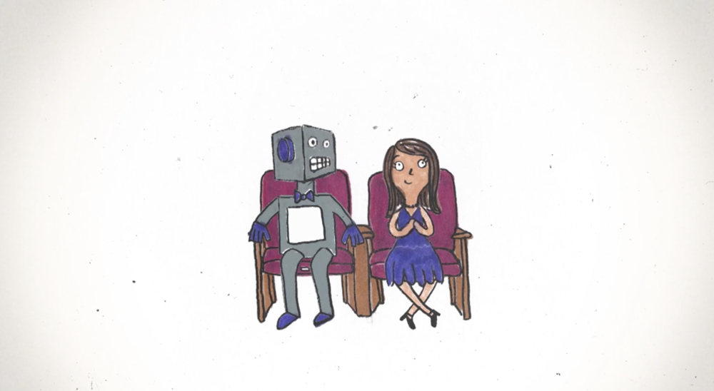 I met a robot at a ballet once by Isabela Dos Santos