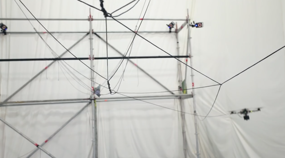 Building a rope bridge with flying machines by ETH Zurich
