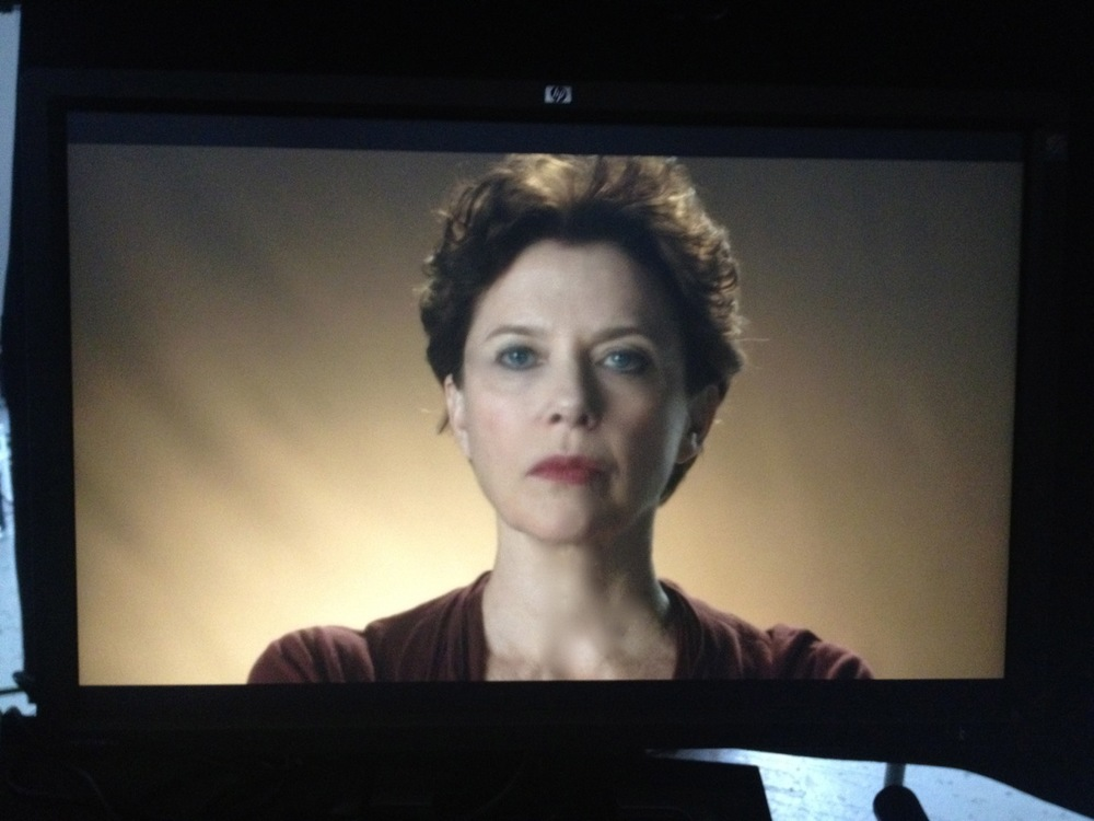"From the monitor at Panavision, in search of the look for ""The Face of Love""."