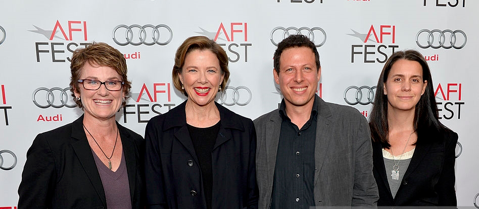 With Annette Bening, and producers Bonnie Curtis and Julie Lynn at the AFI Festival evening honoring Annette
