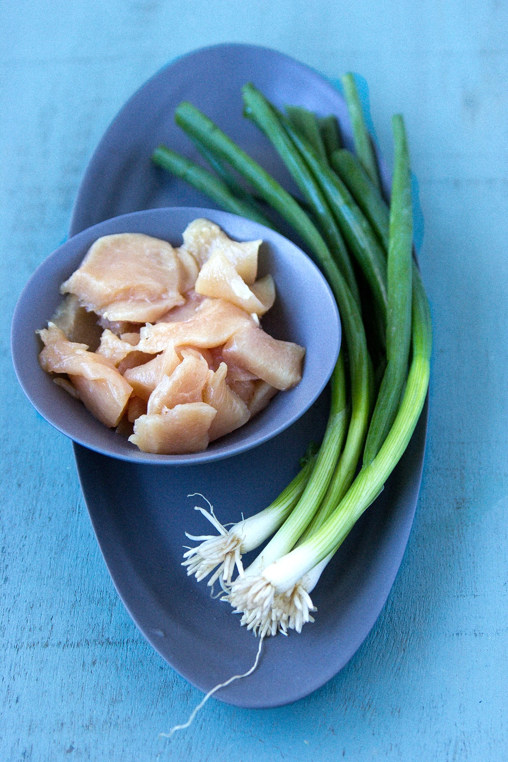 Thinly Sliced Chicken   Scallions