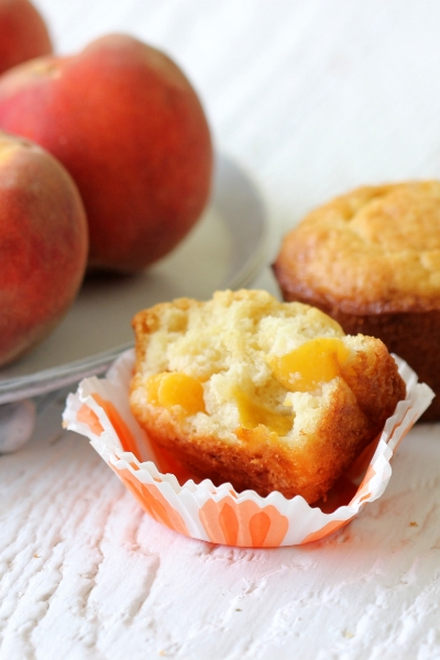 PEACH AND GINGER MUFFINS
