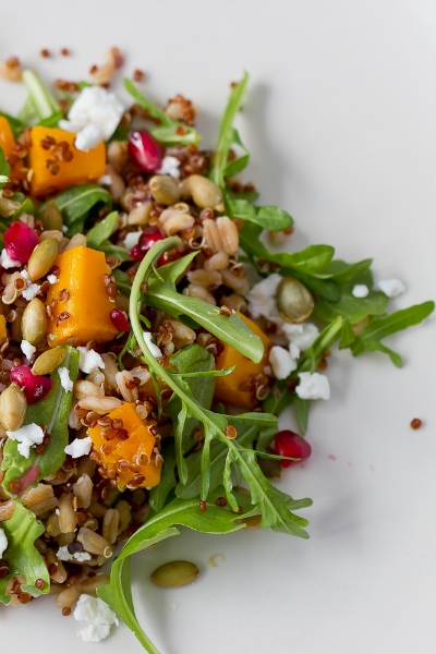FARRO AND RED QUINOA SALAD