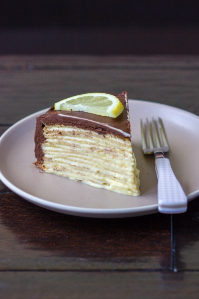 LEMON MOUSSE CREPE CAKE