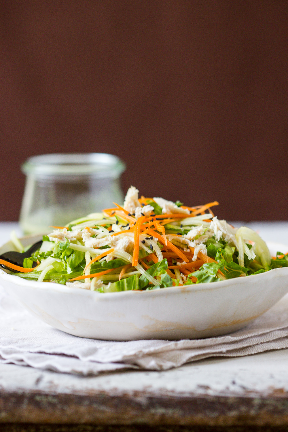 CHICKEN SLAW WITH SPICY CILANTRO DRESSING
