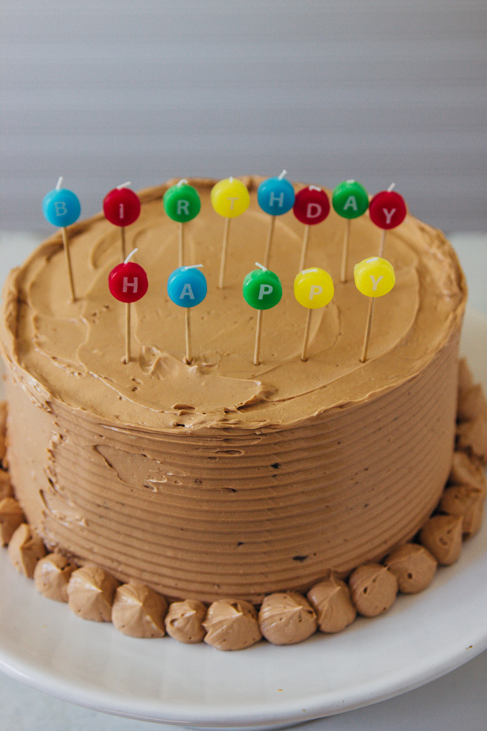 BANANA CAKE WITH MILK CHOCOLATE BUTTERCREAM