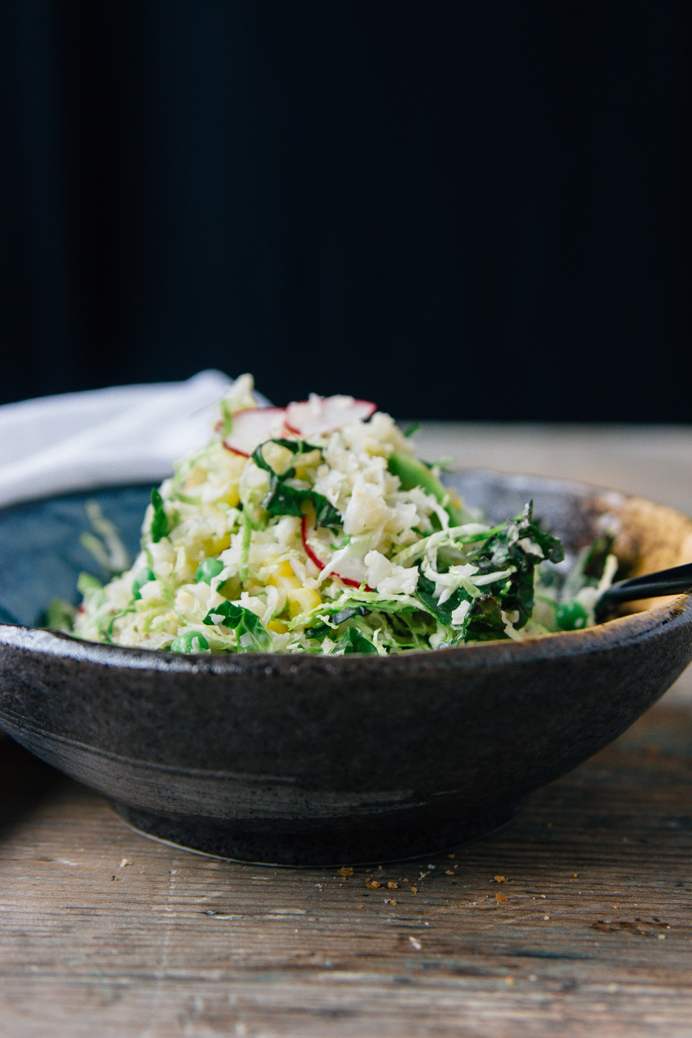 "Roasted Cauliflower ""Rice"" Salad with Lemon Tahini Dressing — playi..."