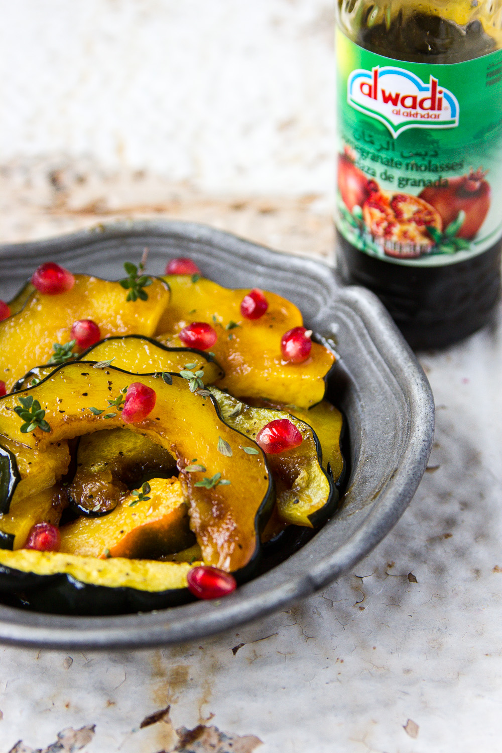 ACORN SQUASH WITH POMEGRANATE GLAZE