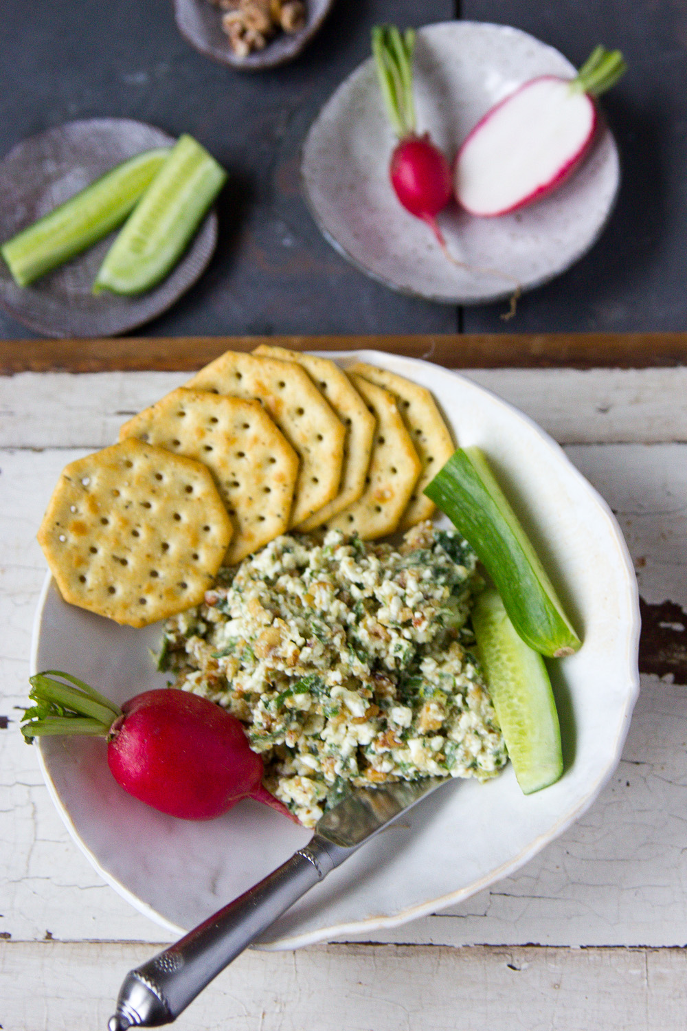 FETA HERB DIP WITH WALNUTS