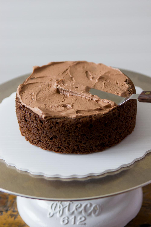 Sour Cream Chocolate Layer Cake — playin with my food