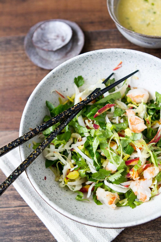 Vietnamese Shrimp Salad with Rice Noodles