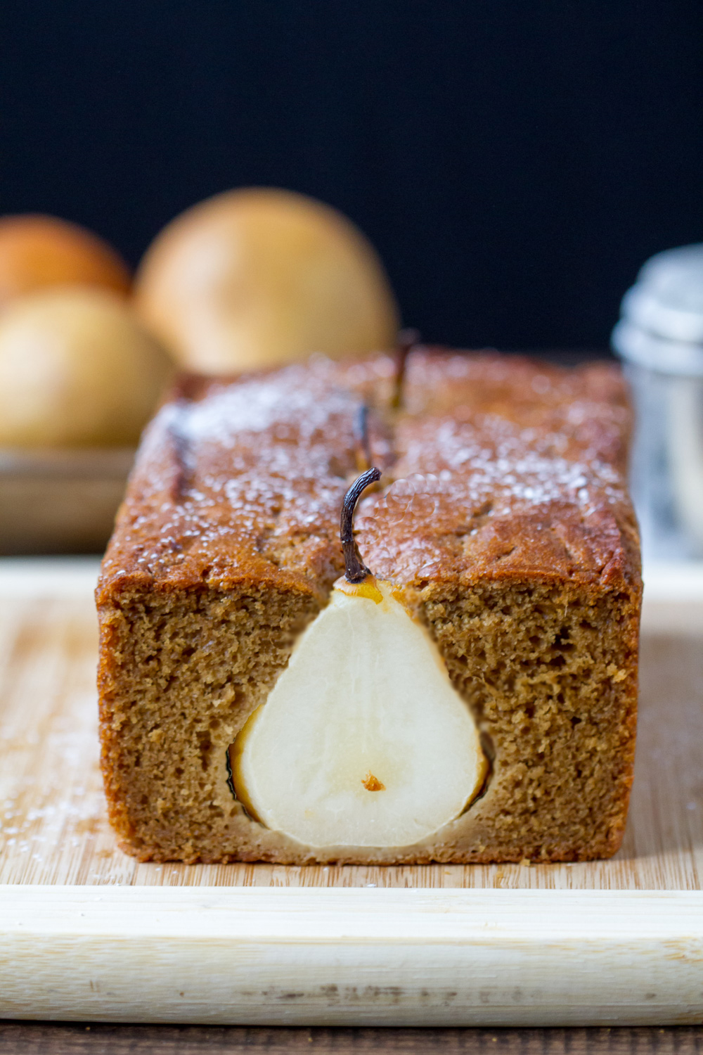 Poached Pear and Gingerbread Cake