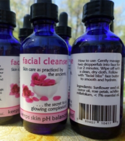 facial cleanse - facial cleansing serum for exceptionally clean skin.            2 fl. oz. - $12.