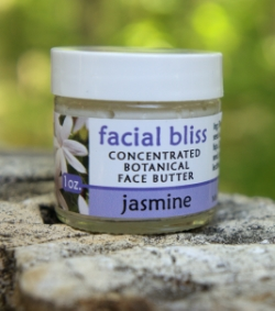 facial bliss - concentrated botanical face butter,  jasmine scent.   1 oz. - $12. 2   oz. - $20.