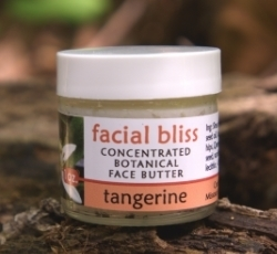 Facial Bliss - concentrated botanical face butter, tangerine scent. Great for spot breakouts. 1 oz. - $15. 2 oz. - $25.