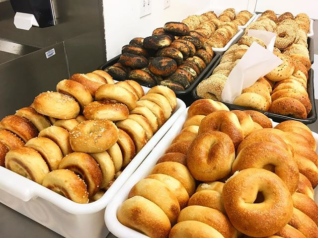 Sorry only have a few bagels today. JK this isn't even all of them. See you at 8, my dudes.