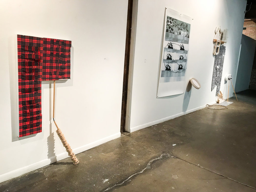 """Installation View,  """"A Thing Added""""  at 500X Gallery"""