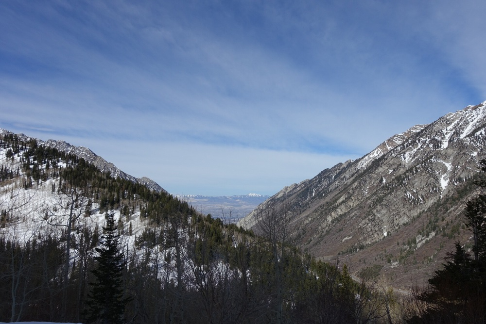 View of the Salt Lake Valley from Little Cottonwood Canyon