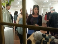 Art lovers attending the latest opening at CSUCI Exhibitions