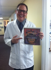 Dr. Czubiak with 2013 Ventura County Star Newspaper after being voted best dentist.