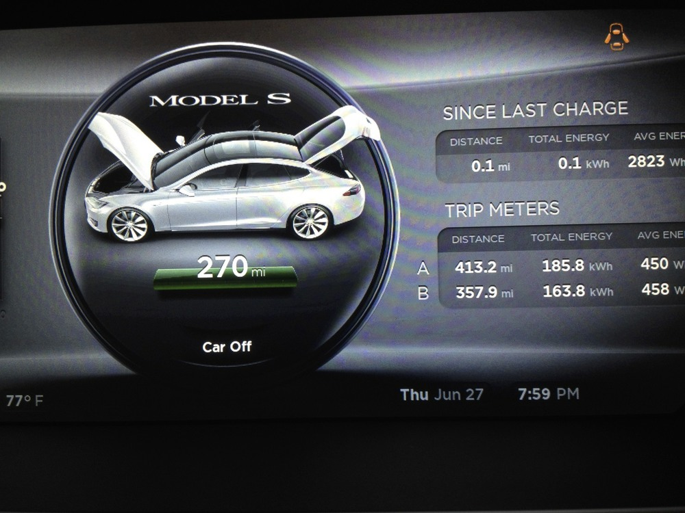 Model S digital gauges