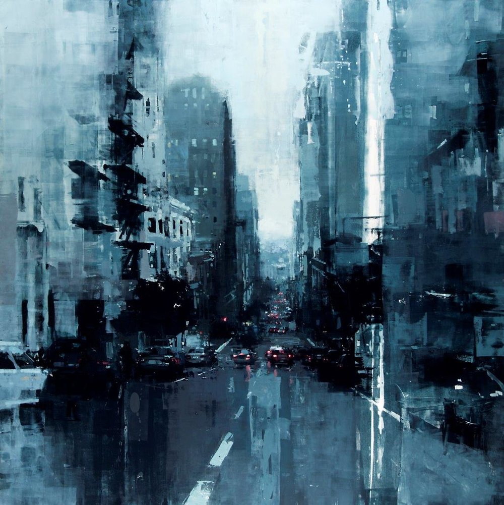 San Francisco no. 7 - 48 x 48 inches - Oil on Panel - 11/2014