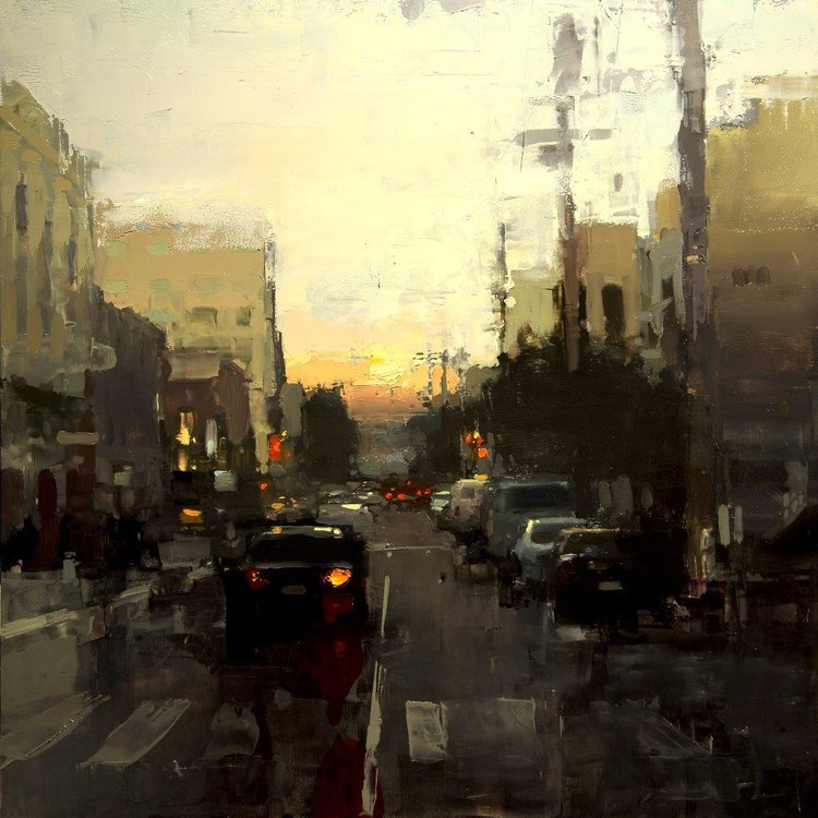 Last Light in the Mission - 12 x 12 inches - Oil on Panel - 3/2015