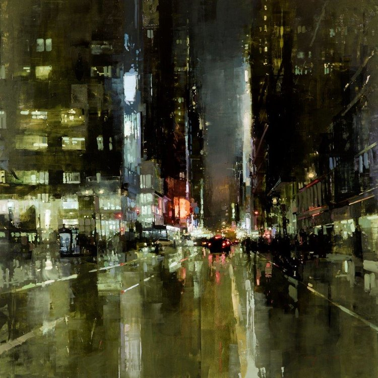 New York (no. 7) - 48 x 48 inches - Oil on Panel - 5/2014