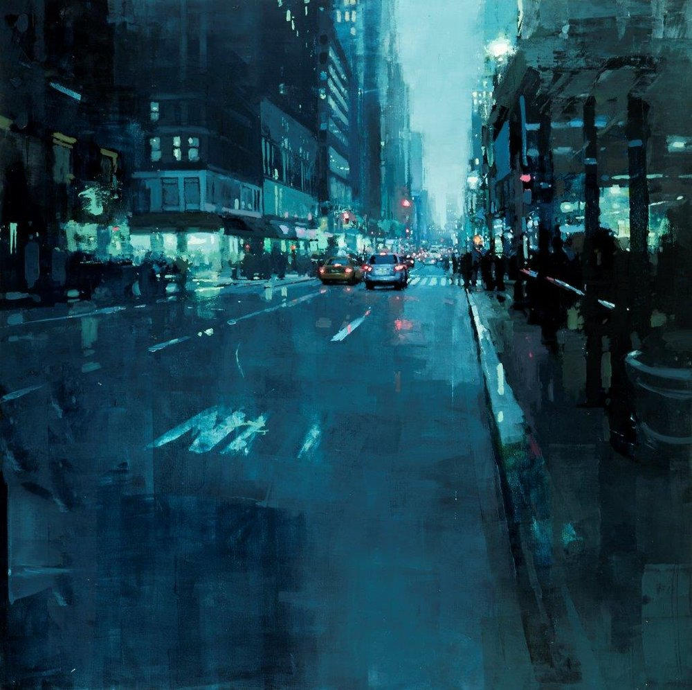New York no. 10 - 30 x 30 inches - Oil on Panel - 6/2014