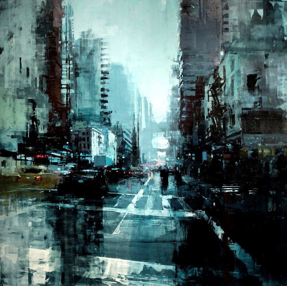 1000 x 998 jpeg 286kB, New York no. 11 - 48 x 48 inches - Oil on Panel ...