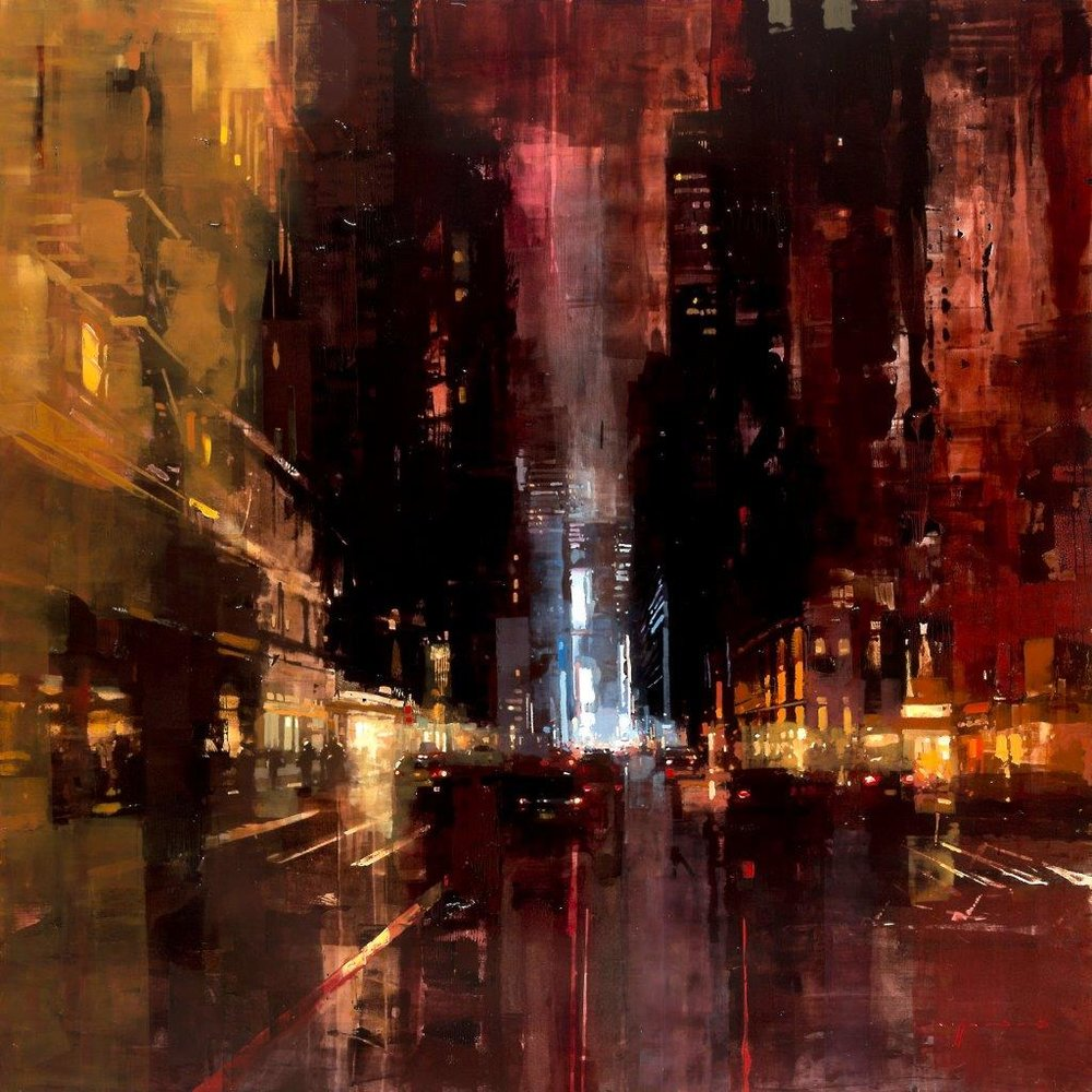 NYC 15 - 48 x 48 inches - Oil on Panel - 7/2015
