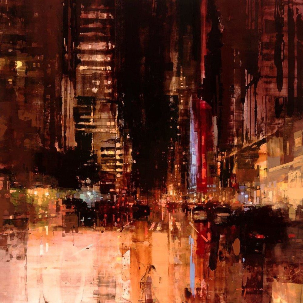 NYC 26 - 48 x 48 inches - Oil on Panel - 5/2016