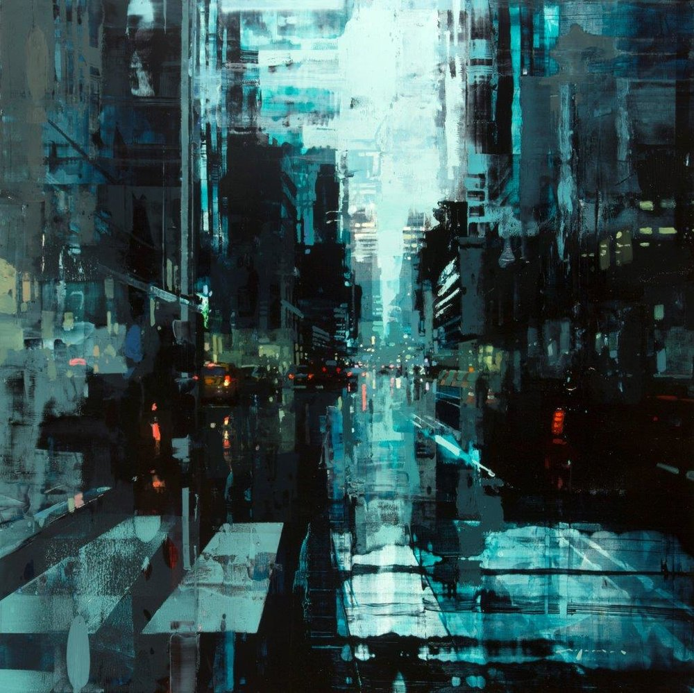 NYC 29 - 36 x 36 inches - Oil on Panel - 6/2016