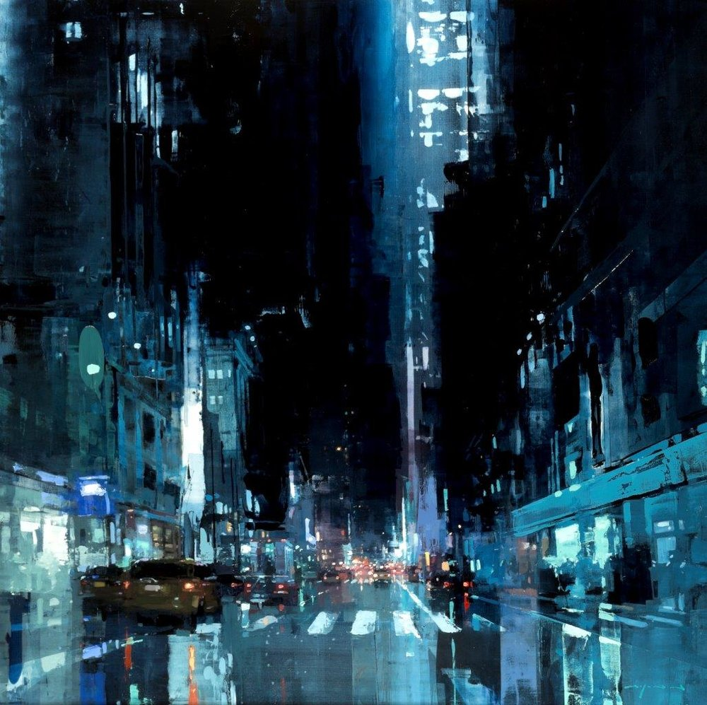 NYC #18 - 48 x 48 inches - Oil on Panel - 10/2015