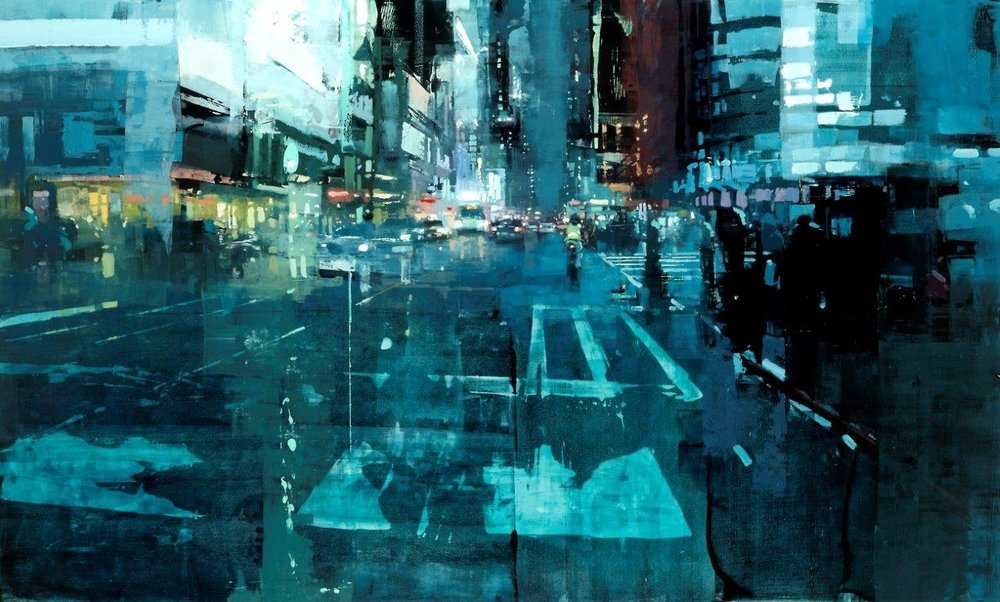NYC 14 - 36 x 60 inches - Oil on Panel - 8/2015