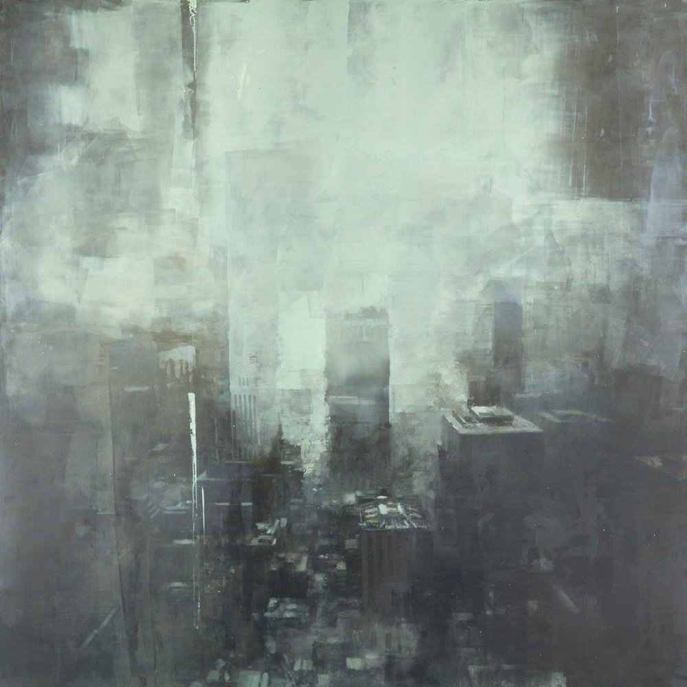 Winter, New York - 36 x 36 inches - Oil on Panel - 3/2014