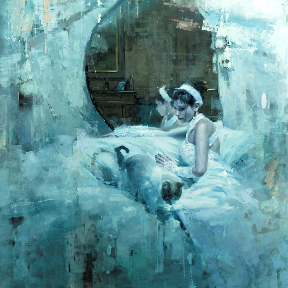 The Forgotten (version one - Abandon) - 48 x 48 inches - Oil on Panel - 10/2012