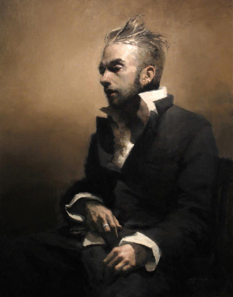 Self Portrait - 28 x 22 inches - Oil on Panel - 12/2009