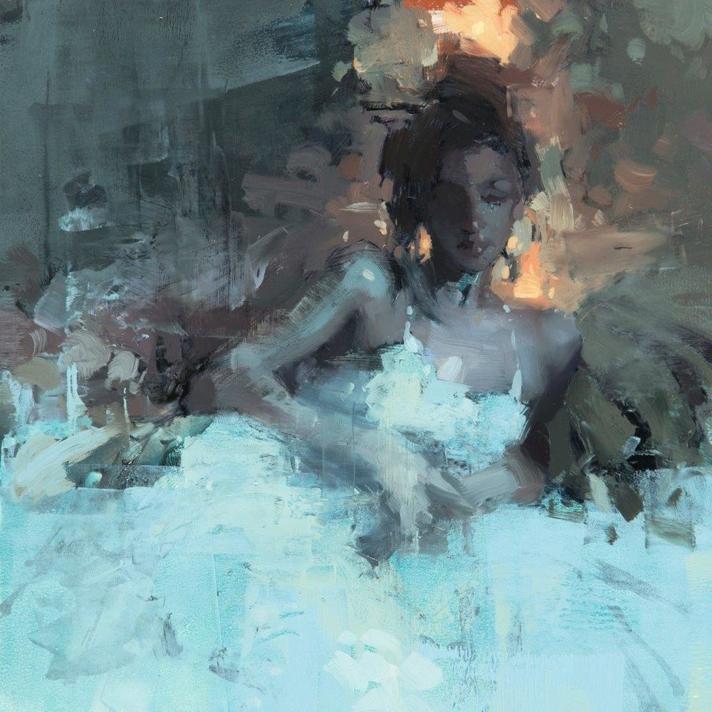 Figure - Composed Form Study 1 - 6 x 6 inches - Oil on Panel - 2/2016