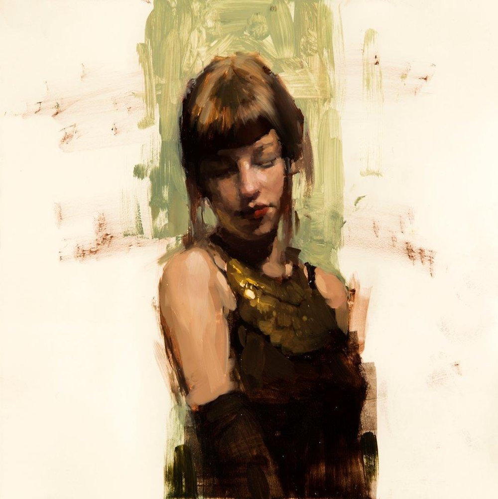 Amanda, Color Study no. 3 - 8 x 8 inches - Oil on Panel - 11/2014